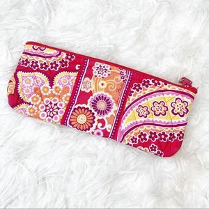 Vera Bradley Raspberry Fizz Brush/Pencil Pouch